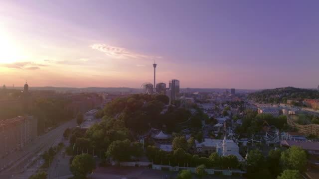 göteborg sverige flygfoto över staden i solnedgång - bohuslän nature bildbanksvideor och videomaterial från bakom kulisserna