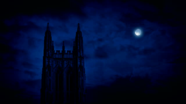 Gothic Church Spire At Night video