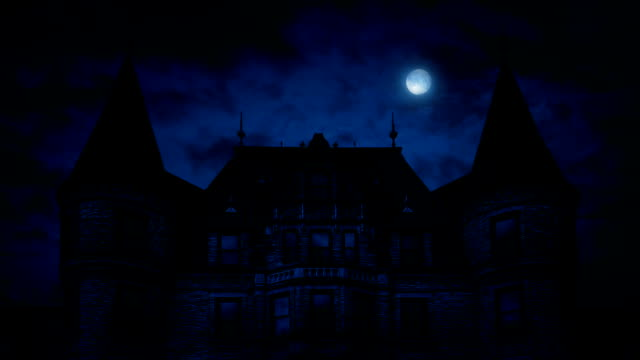 Gothic Mansion House At Night video