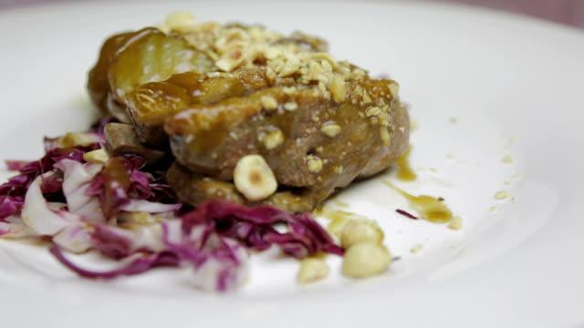 Gourmet fillet mignon steak with legumes video
