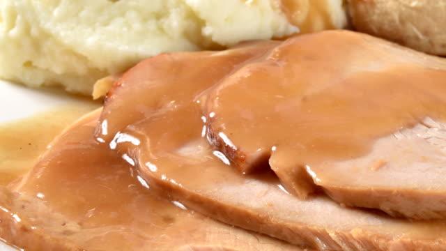 vídeos y material grabado en eventos de stock de cena de turquía - thanksgiving turkey