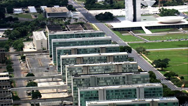 Escritórios do governo-vista aérea-Distrito Federal, Brasília, Brasil - vídeo