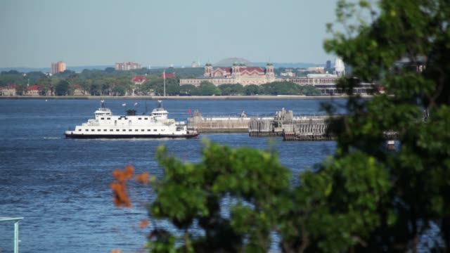 Governors Island Ferry In Sunlight video