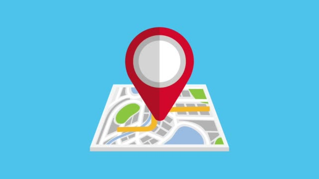 gps navigation application gps navigation city map street with pin 3d animation global positioning system stock videos & royalty-free footage