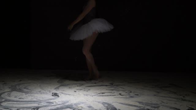 ダストビデオを投げるチュチュの優雅な女の子 ビデオ