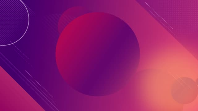 Gradient geometric circles in purple red background