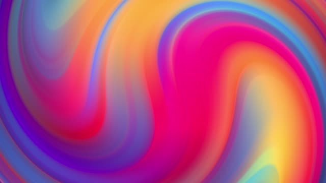 Gradient of rainbow colors are cyclically shifting in loop. It is 4k beautiful abstract background with seamless looping animation for holiday presentations or trendy stuff in motion design style. 17