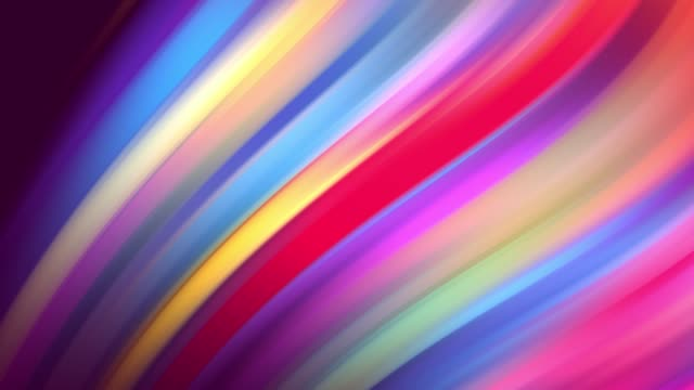 Gradient of rainbow colors are cyclically shifting in loop. It is 4k beautiful abstract background with seamless looping animation for holiday presentations or trendy stuff in motion design style. 27 video
