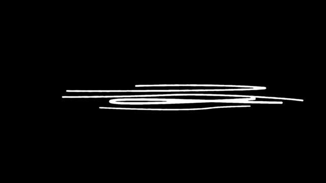 vídeos de stock e filmes b-roll de gradual appearance of drawn lines on black background hd - desenho