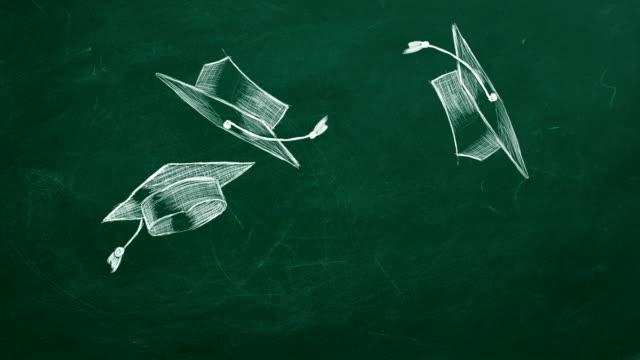 graduation caps - tocco accademico video stock e b–roll