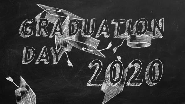 graduation day. 2020 - tocco accademico video stock e b–roll