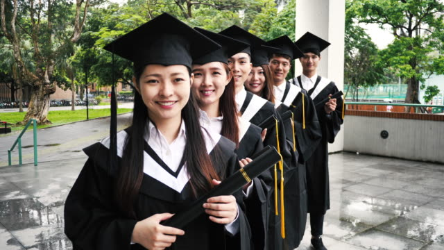 Graduation in East Asia - Asian girls have a higher average than boys.