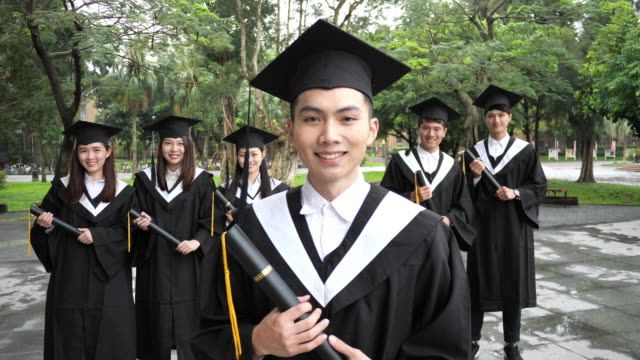 Graduation in East Asia - Students on graduation ceremony