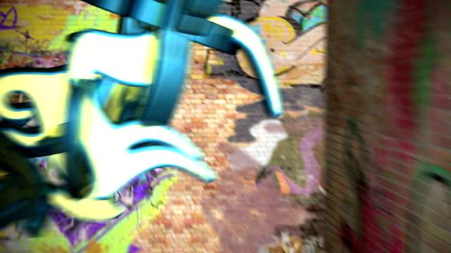 3d graffiti comes to life - väggmålning bildbanksvideor och videomaterial från bakom kulisserna