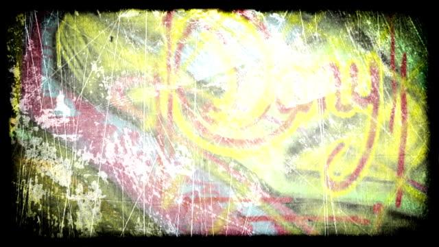 graffiti grunge. hd - klotter bildbanksvideor och videomaterial från bakom kulisserna