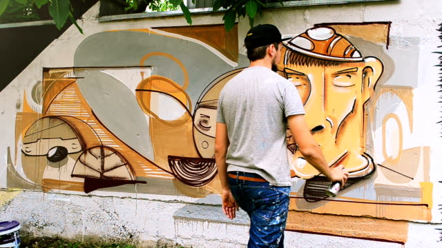 Graffiti on a fence. video