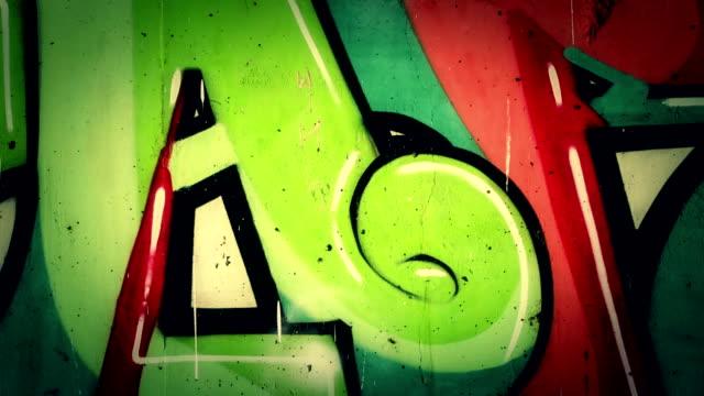 graffiti. - väggmålning bildbanksvideor och videomaterial från bakom kulisserna
