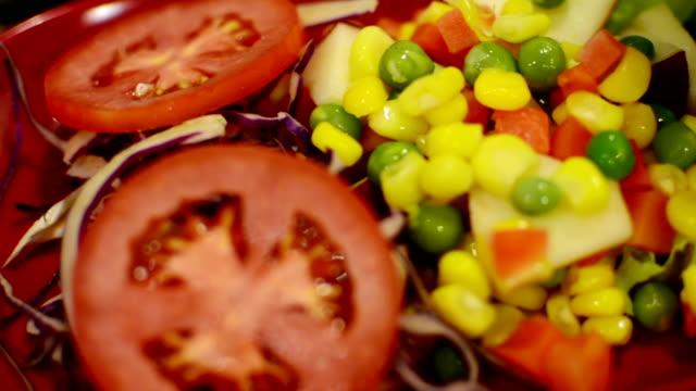 grains salad grains salad salad bowl stock videos & royalty-free footage