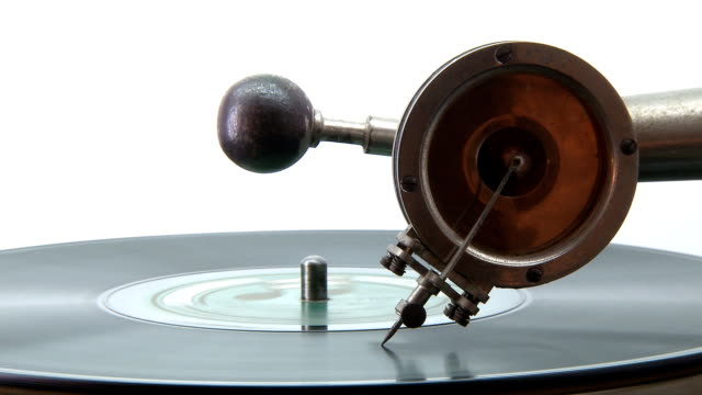 Gramophone playing a disc Old Gramophone playing a disc grooved stock videos & royalty-free footage
