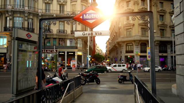Gran Via in Madrid, Zeitraffer – Video