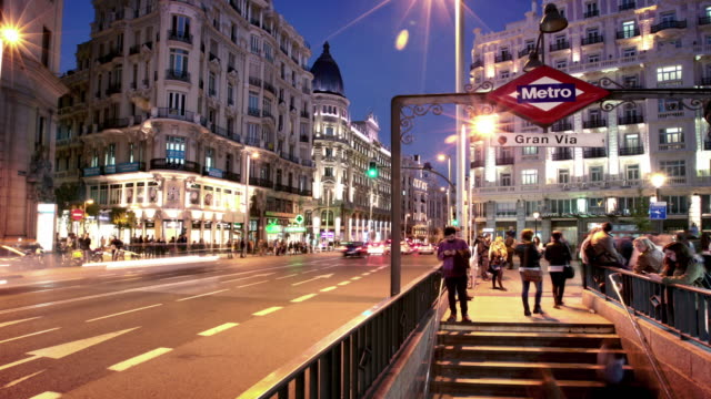 Gran Via Madrid Spain video