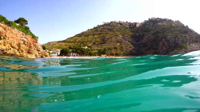 Granadella beach in Javea, Spain, on a sunny day
