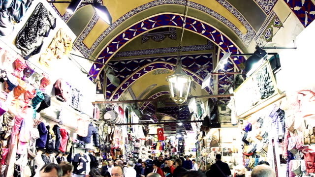 Grand Bazaar crowd in Istanbul - Turkey video