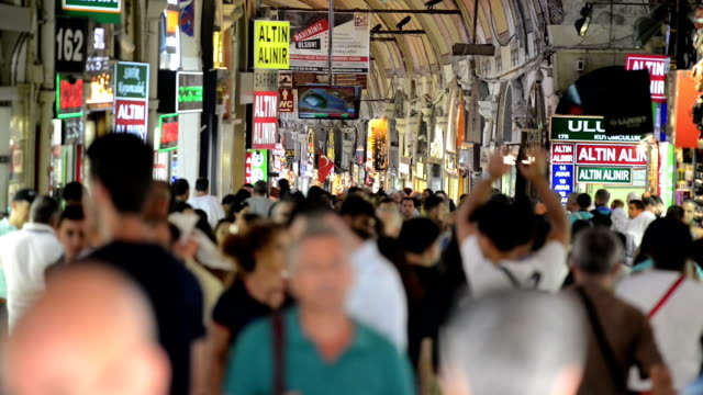 grand bazaar in istanbul - grand bazaar video stock e b–roll