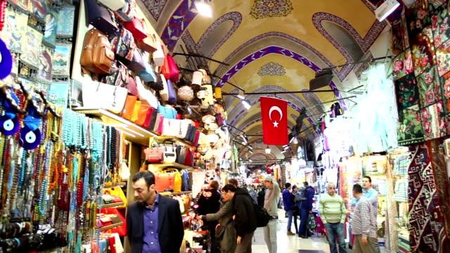 grand bazaar a istanbul - grand bazaar video stock e b–roll