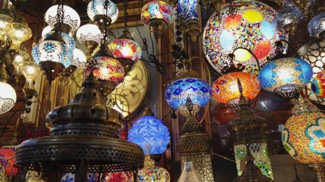 grand bazar butik i istanbul - ramadan lykta bildbanksvideor och videomaterial från bakom kulisserna
