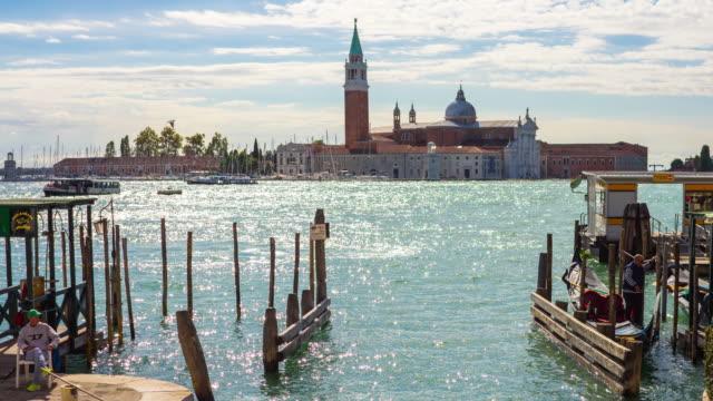 Grand canal and the Saint Giorgio Maggiore church video