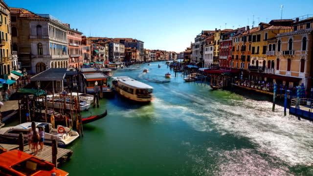 Grand canal in Venice, Italy time lapse video video