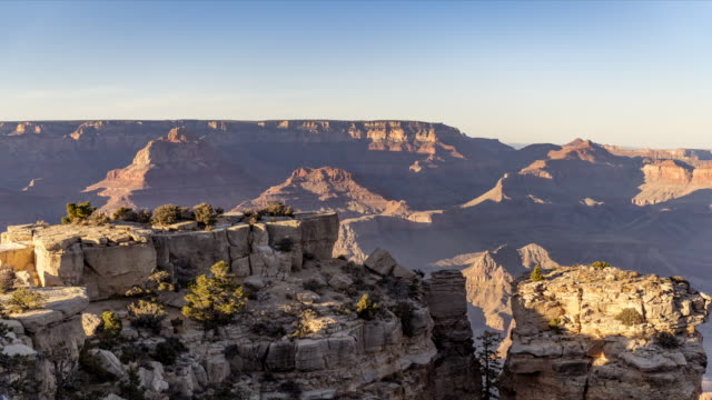 Grand Canyon moonrise time lapse