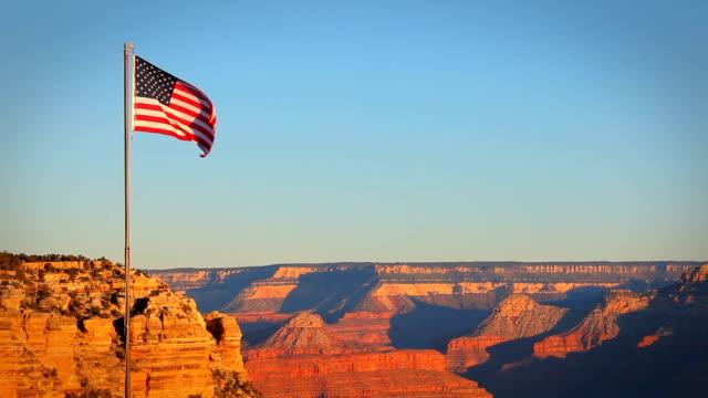 Grand Canyon USA Flag Morning video