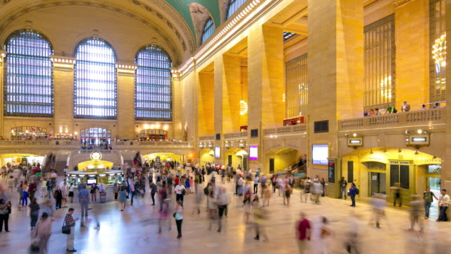 grand central inside rush hour traffic 4k time lapse from new york video