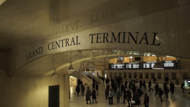 grand central, new york - i̇stasyon stok videoları ve detay görüntü çekimi