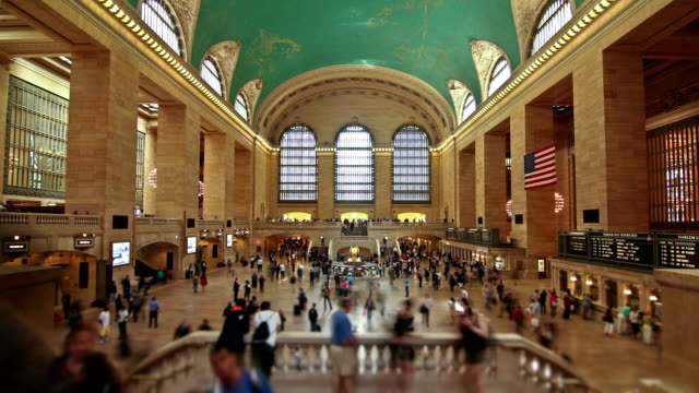 Grand Central Station 2) Time lapse of Grand Central Station in New York. subway station stock videos & royalty-free footage