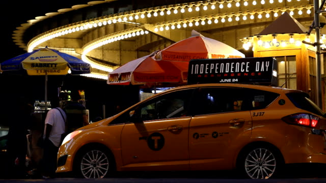 Grand Central Terminal Taxi Stand at Night video