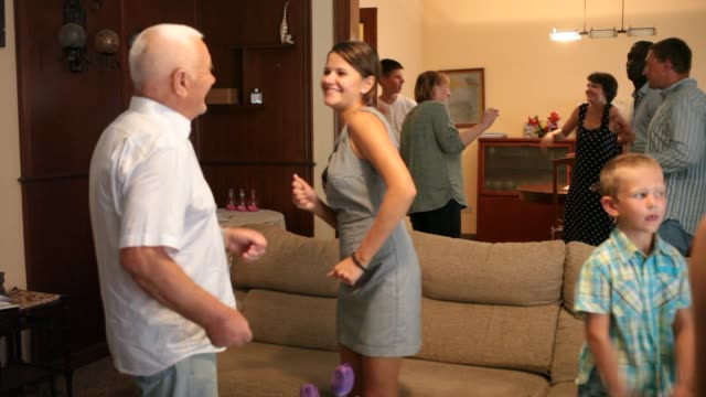 Grand family party - dancing in room