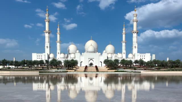 büyük cami abu dabi timelapse - abu dhabi stok videoları ve detay görüntü çekimi