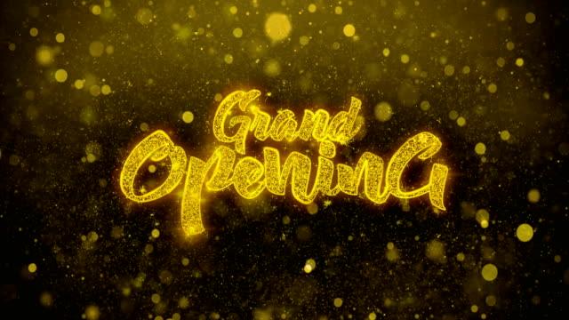 vídeos y material grabado en eventos de stock de gran apertura deseos saludos tarjeta, invitación, celebración fuegos artificiales - gran inauguración