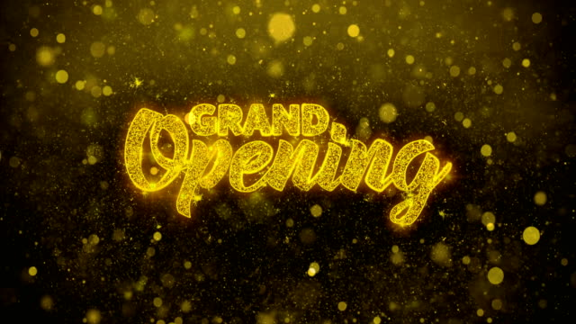 Grand Opening Wishes Greetings card, Invitation, Celebration Firework video
