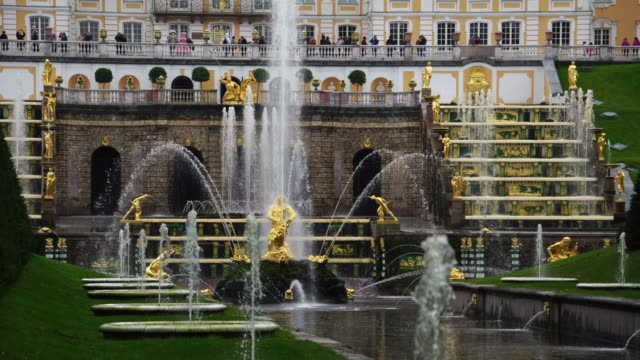 Grand Palace and Samson fountain in Peterhof Petrodvorets St. Petersburg  Russia