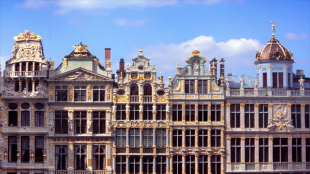 Grand Place Buildings Brussels, Belgium video