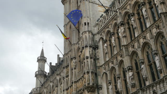 Grand place in Brussels Old City Square video