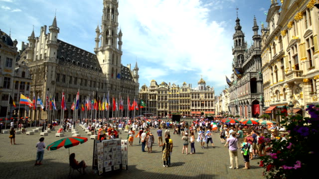 Grand Place in Brussels, time lapse video