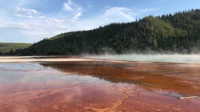 Grand Prismatic Spring in Yellowstone National Park video