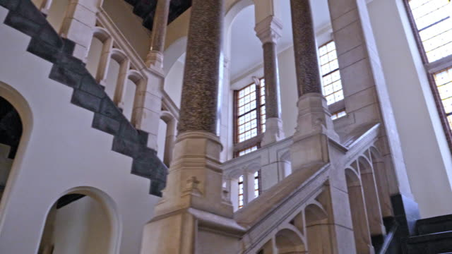 grand stairway - classical architecture stock videos & royalty-free footage
