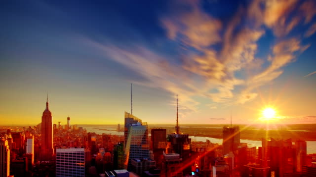 Grand Sunset over Manhattan, New York City. video