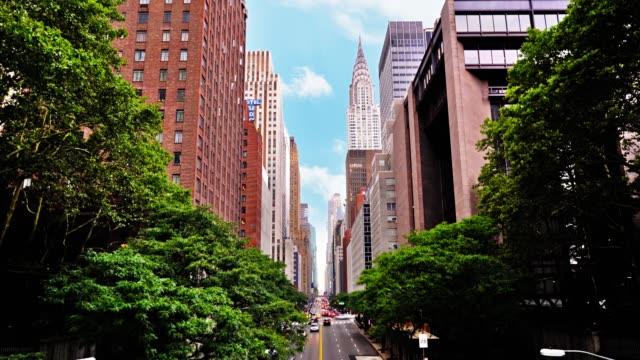 Der Blick auf die 42. Straße. Chrysler-Gebäude. New York. – Video